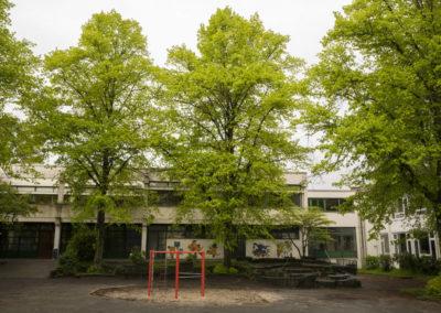 Kleiner Schulhof Bäume